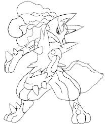 Kleurplaat Pokemon Mega Evolutie Mega Lucario 448 448
