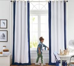 Color Bordered Kids Blackout Curtain Pottery Barn Kids