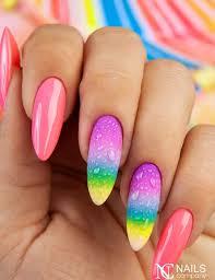 Ncnails Tecza Rainbow Summer Lato Ladne Paznokcie Paznokcie