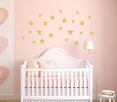 Amazon Com Gold Stars Baby Nursery Pink And Gold Nursery Star Decals Vinyl Stars Wall Stickers Baby Nursery Wall Stickers Handmade