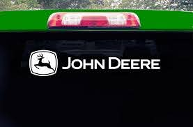 Chroma 8058 John Deere White Rear Window Graphix Decal Precision Cut From High Quality Vinyl By Chroma Graphics Walmart Com Walmart Com