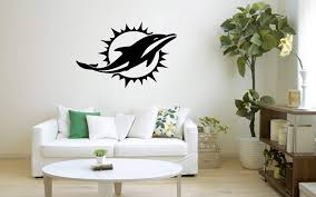 Miami Dolphins Nfl Wall Decal Sport Logo Nfl Vinyl Home Decor Room Home Garden Children S Bedroom Sports Decor Decals Stickers Vinyl Art Ayianapatriathlon Com