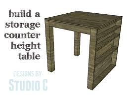 a nifty counter height table with storage