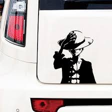 One Piece Monkey D Luffy Anime Car Body Door Hood Decal Vinyl Sticker Auto Parts And Vehicles Car Truck Graphics Decals Magenta Cl