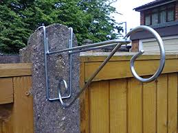 Hanging Basket Brackets For Concrete Fence Posts 2 Amazon Co Uk Garden Outdoors