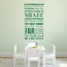 Playroom Rules Wall Decal Wall Decal World