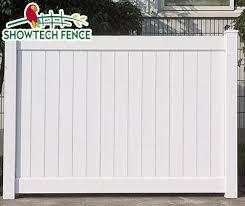 China White Vinyl 6 H 8 W Garden Privacy Chain Link Pvc Fence Kit China Pvc Privacy Fence Pvc Fence Factory