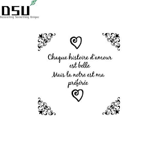 french quotes wall stickers bedroom decor vinyl wall decal sticker