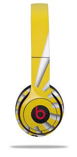 Beats Solo2 Solo3 Wireless Skins Rising Sun Japanese Flag Yellow Wraptorskinz