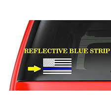 American Flag M9 Thin Blue Line Cop Police Vinyl Decal Sticker Car Window Walmart Com Walmart Com