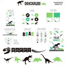 Dinosaur Party Verde Negro Sin Personalizar Nina Designs Parties