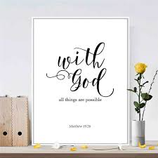 canvas painting quote god nordic mural art drawing poster no