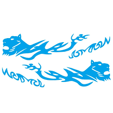 Wholesale D 1042 2pcs Car Stickers Auto Body Vinyl Long Decals Waterproof Striped Stickers Auto Diy Car Sticker Style Blue From China
