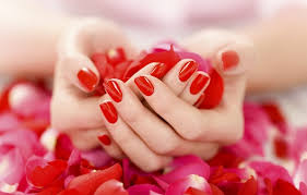 gently manicure red nail polish