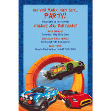 Custom Hot Wheels Wild Racer Invitation Image 1 Cumpleanos De