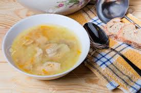 Salmon Clear Soup With Large Chunks Of ...