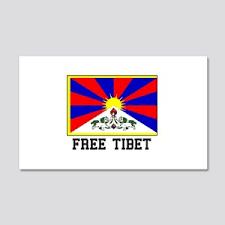 Tibet Flag Wall Decals Cafepress