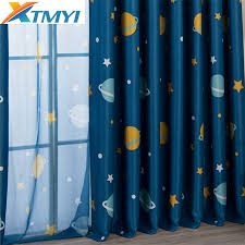 Cartoon Planet Blackout Curtains For Kids Room Children Curtains For Baby Boys Bedroom Living Room Window Curtains For Child Curtains Aliexpress