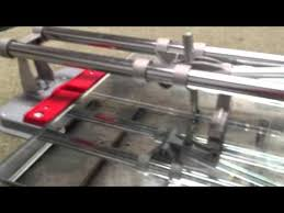 using a tile cutter to cut mirror or