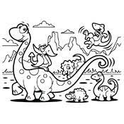 Kleurplaat Dinosaurus 3804