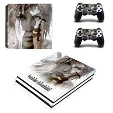 The Rise Of Tomb Raider Ps4 Pro Skin Sticker Sony Playstation 4 Pro Console And 2 Controllers Ps4 Pro Skin Stickers Decal Consoleskins Co