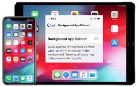 background app refresh on iphone ipad