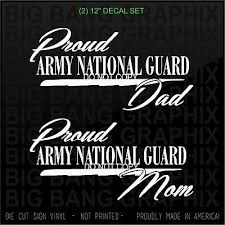 12 Proud Army National Guard Mom Dad 2 Decal Sticker Car Window Son Daughter Us Ebay