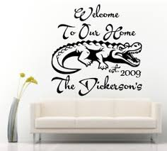 Welcome To Our Home Est Personalized Family Name Alligator 22 Wall Vinyl Decal Ebay