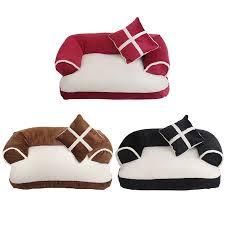 luxury double cushion pet dog sofa beds