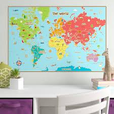 World Map Wall Sticker Wayfair