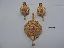 gold plated pendant earring set