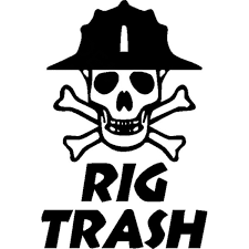 10 3cm 15 2cm Oil Rig Vinyl Decal Rig Trash Skull Rig Hand Roughneck Oil Field Gas Car Stickers And Decals Black Sliver Lm 6523 Wish