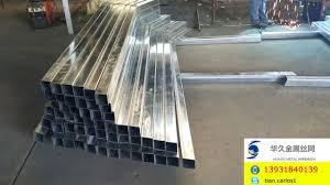 Steel Fence Post Welding Square Steel Post Welding Galvanized Steel Post Welding Youtube