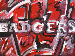 wisconsin badgers painting by justin