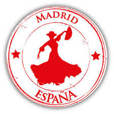 Madrid City Spain Dance Grunge Travel Stamp Car Bumper Sticker Decal 5 X 5 Ebay