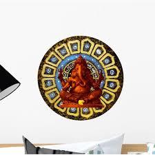Red Ganesha God Hindu Wall Decal Wallmonkeys Peel And Stick Graphic 12 In W X 9 In H Wm502939 Walmart Com Walmart Com