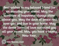 best wishes to my beloved friend for an amazing year ahead