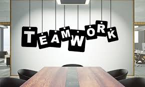 Office Wall Decal Teamwork Quote Wall Sticker Office Decor Etsy Office Wall Decals Wall Decals Office Walls