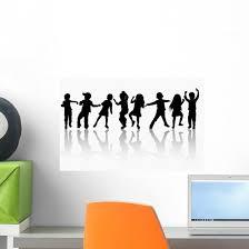 Children Silhouettes Wall Decal Wallmonkeys Com