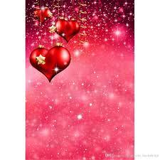 رومانسية الحب قلوب حمراء يوم التصوير الخلفيات المطبوعة يلمع نجوم