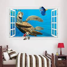 Removable 3d Kids Bedroom Wall Decals Turtle Under Sea World Animal Wall Sticker Art Vinyle Wall Decals Room Decor Room Decoration Vinyl Wall Decalskids Bedroom Aliexpress