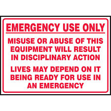 Emergency Use Only Fire Extinguisher And Equipment Decals 5 Pkg