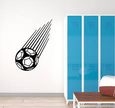 Vinyl Wall Decal Soccer Game Sport Flying Ball Teen Room Stickers Mura Wallstickers4you