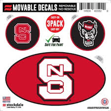 North Carolina State University Car Decals Decal Sets Nc State Wolfpack Car Decal C Acc Official Online Store