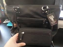 black leather purse hand shoulder bag