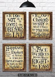 harry potter quotes sayings set of x prints great