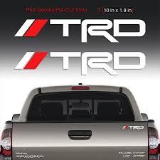 Trd Sticker Decals Windshield Rear Mirror Window Toyota Tacoma Etsy