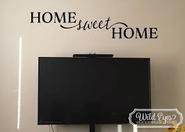Home Sweet Home Vinyl Wall Art Wall Decal Quote Hh2084