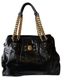 chain strap black leather shoulder bag