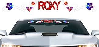 Amazon Com Street Legal Decals Roxy Windshield Full Color 32 Decal Car Window Vinyl Surfing Surfboard Sticker Automotive